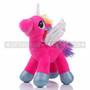 "8"" Hot Pink Magical Flying Unicorn Plush - Left"