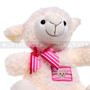 "10"" Soft White Baby Sheep with Pink Ribbon (Close-up)"