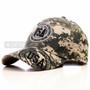 Green Camouflage Print USA Baseball Cap (Main)