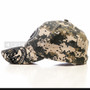 Green Camouflage Print USA Baseball Cap (Left)