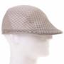 Light Brown Mesh Flat Golfer Cap Sun Hat (Right)