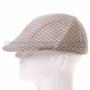 Light Brown Mesh Flat Golfer Cap Sun Hat (Left)