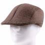 Flat Brown Plastic Golfer Cap Sun Hat (Front)