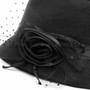 Black Outdoor Summer Flower Women Hat (Detail)