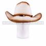 Brown Straw Summer Cowboy Sun Hat (Front)