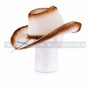 Brown Straw Summer Cowboy Sun Hat (Back)