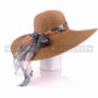Women Summer Beach Visor Brown Bucket Hat (Back)