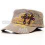 Swords and Cross Flat Black Summer Hat (Front)