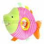 "9"" Pink Fish Baby Rattle Plush"