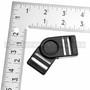 Side Release Buckles Swivel w/ Dual Adjust - Plastic - 1 inch - Black