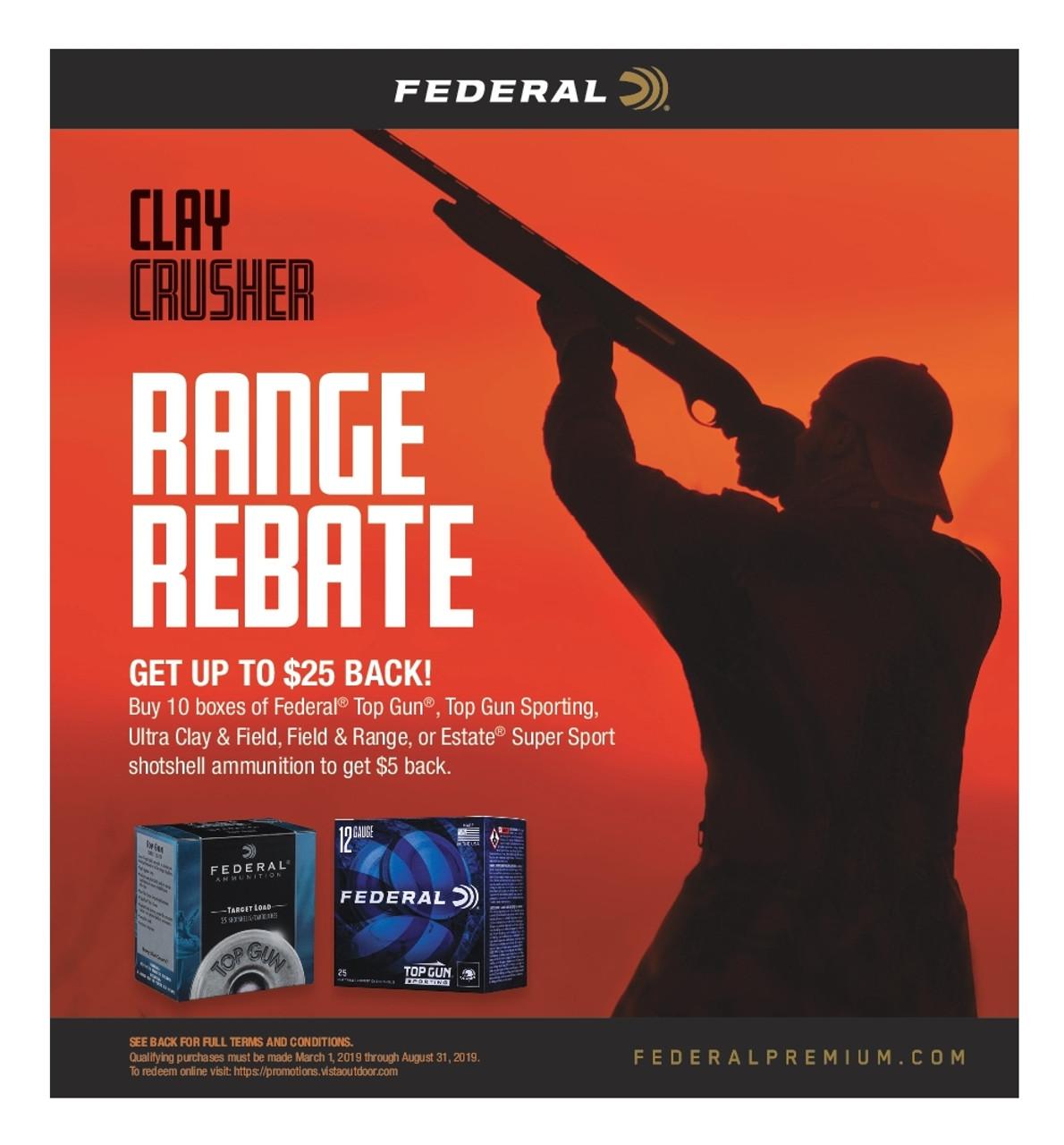 Federal Clay Crusher Range Rebate