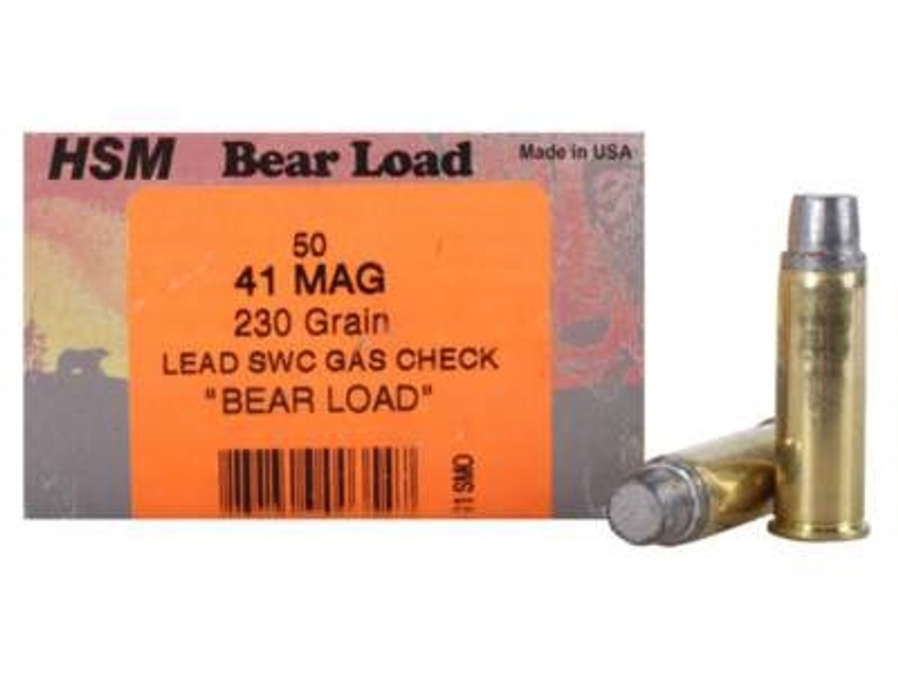 HSM 41 Rem Mag Bear Load 230 gr Semi-Wadcutter Gas Check 50 rounds