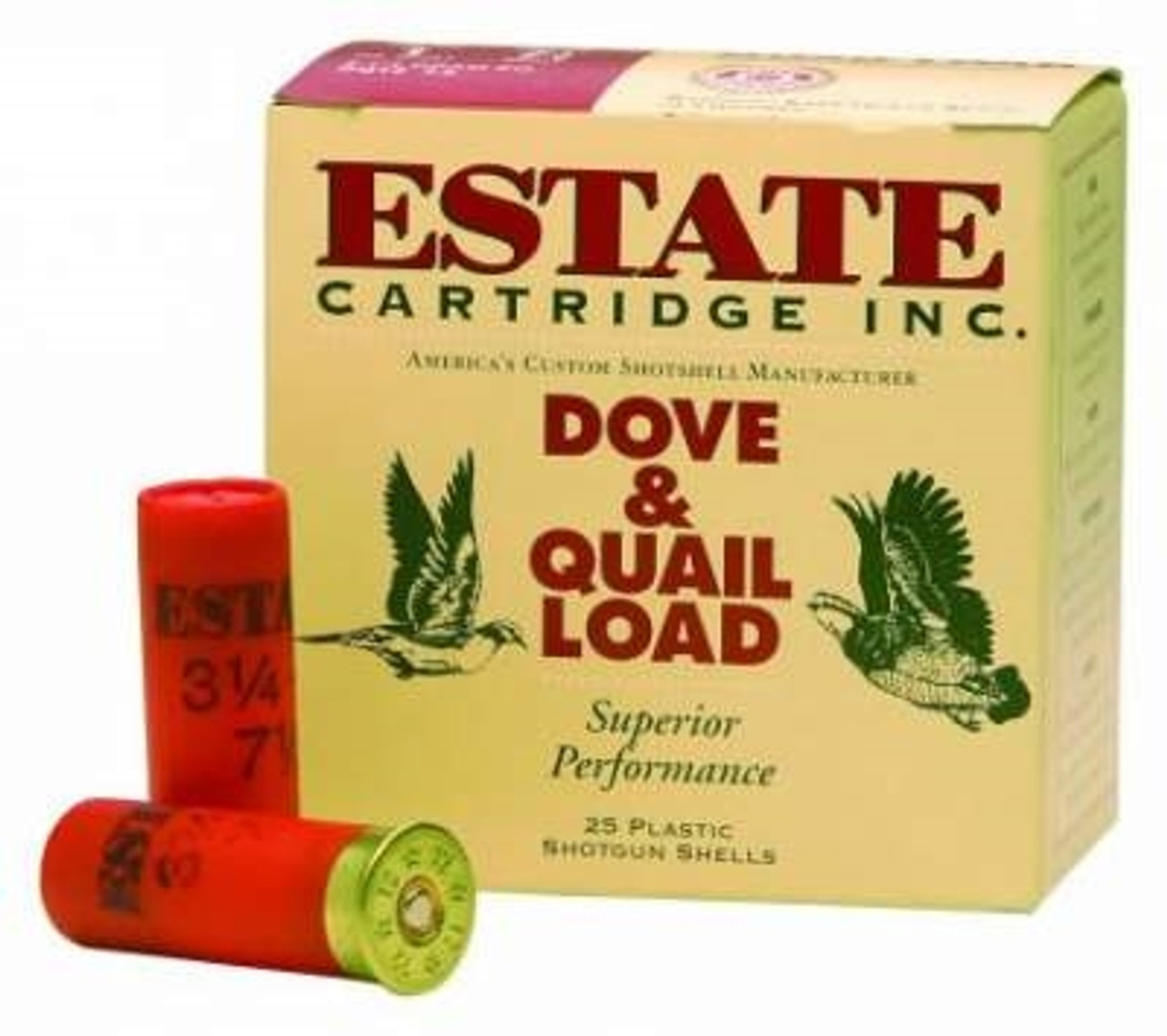 Estate 20 Gauge Ammunition HG208 Dove & Quail Load 2-3/4