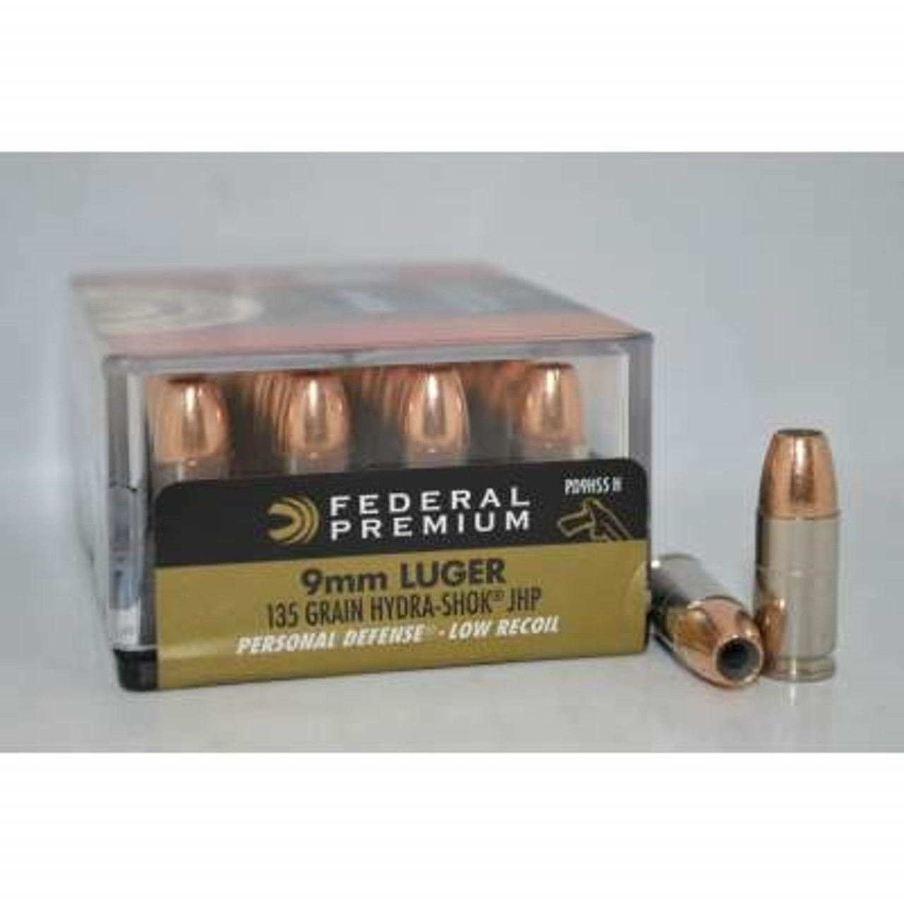 Federal 9mm Low Recoil PD9HS5H 135 Grain Hydra-Shok Jacketed Hollow Point  20 rounds