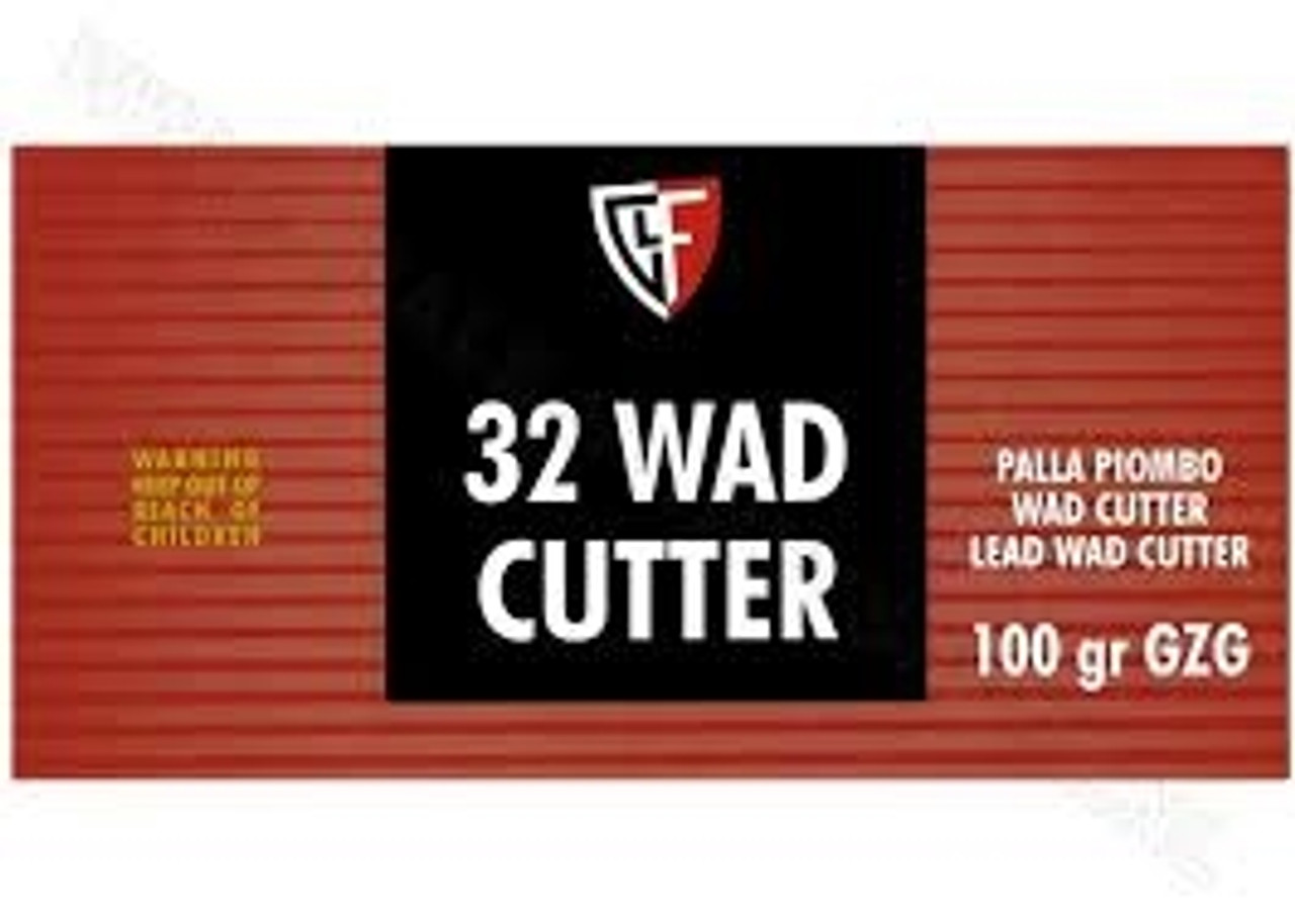Fiocchi 32 S&W Long Lead Wadcutter Ammunition FI32LA 100 Grain 50 rounds