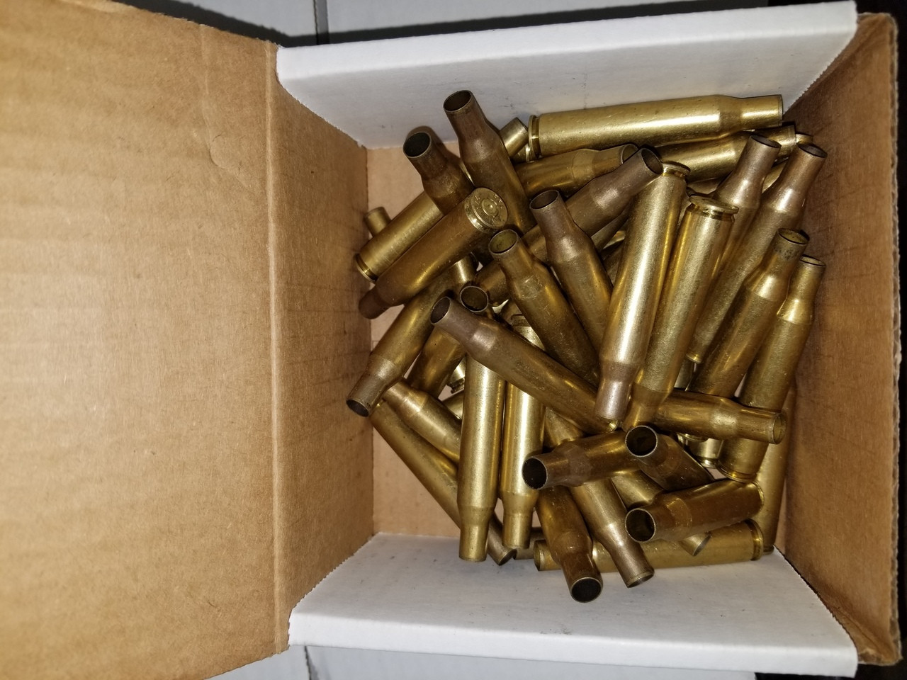 270 Win Once Fired Brass Casings Raw Not Washed 50 pieces