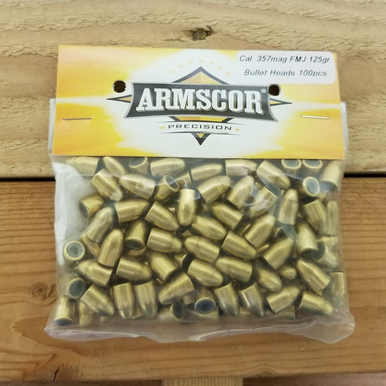 Armscor 357 Mag/ 358 Reloading Bullets 52320 125 Grain Full Metal Jacket  100 Pieces