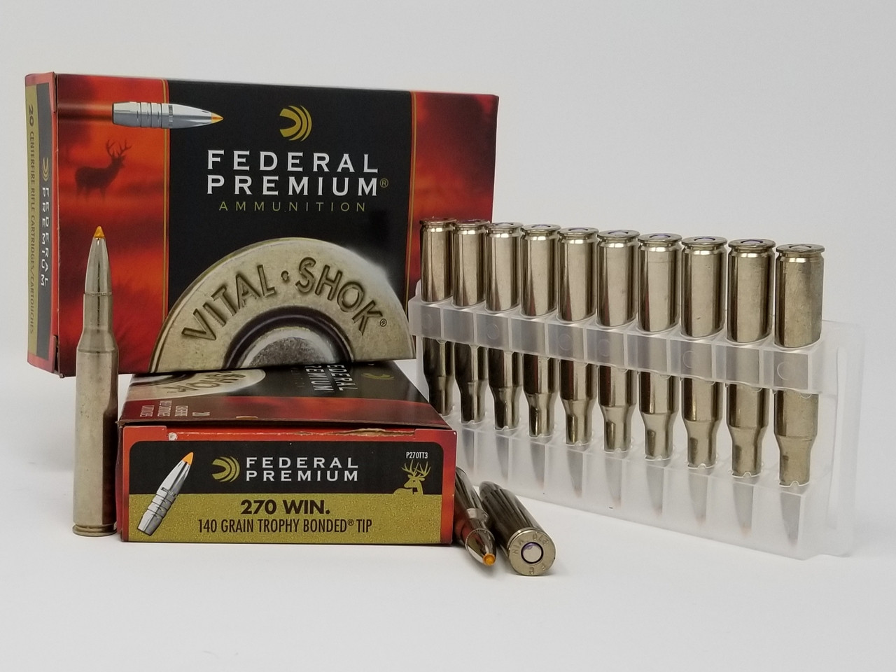 Federal 270 Win Ammunition Vital-Shok P270TT3 140 Grain Trophy Bonded Tip  20 Rounds