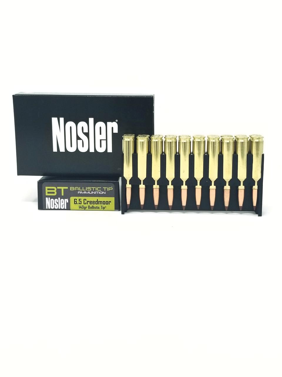 Nosler 6 5 Creedmoor Ammunition Hunting 40064 140 Grain Ballistic Tip 20  Rounds