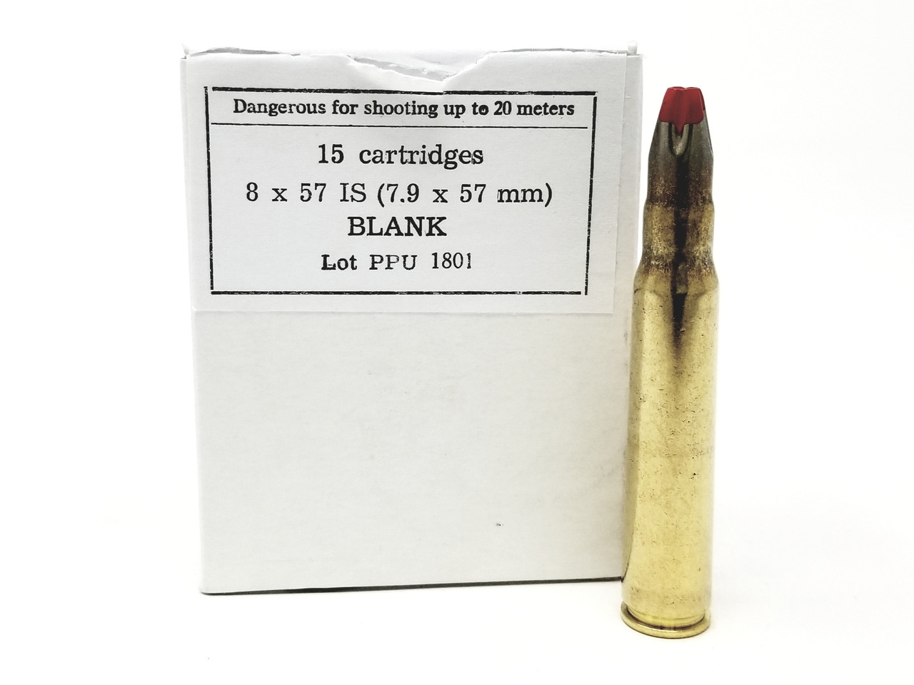 Prvi PPU 8x57 IS Ammunition PPB79 Blanks 15 Rounds