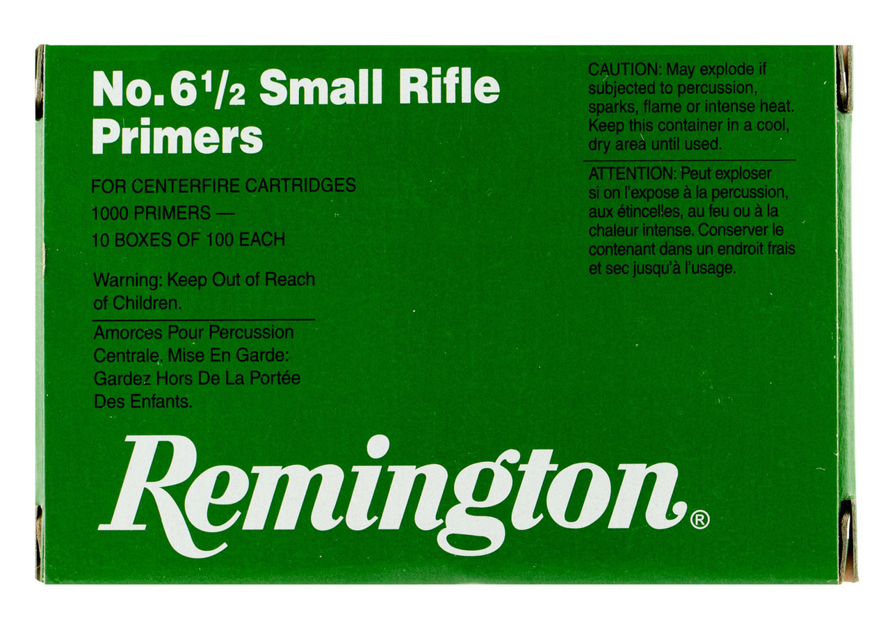 Remington Primers 6-1/2 Small Rifle X22606 1000 Count