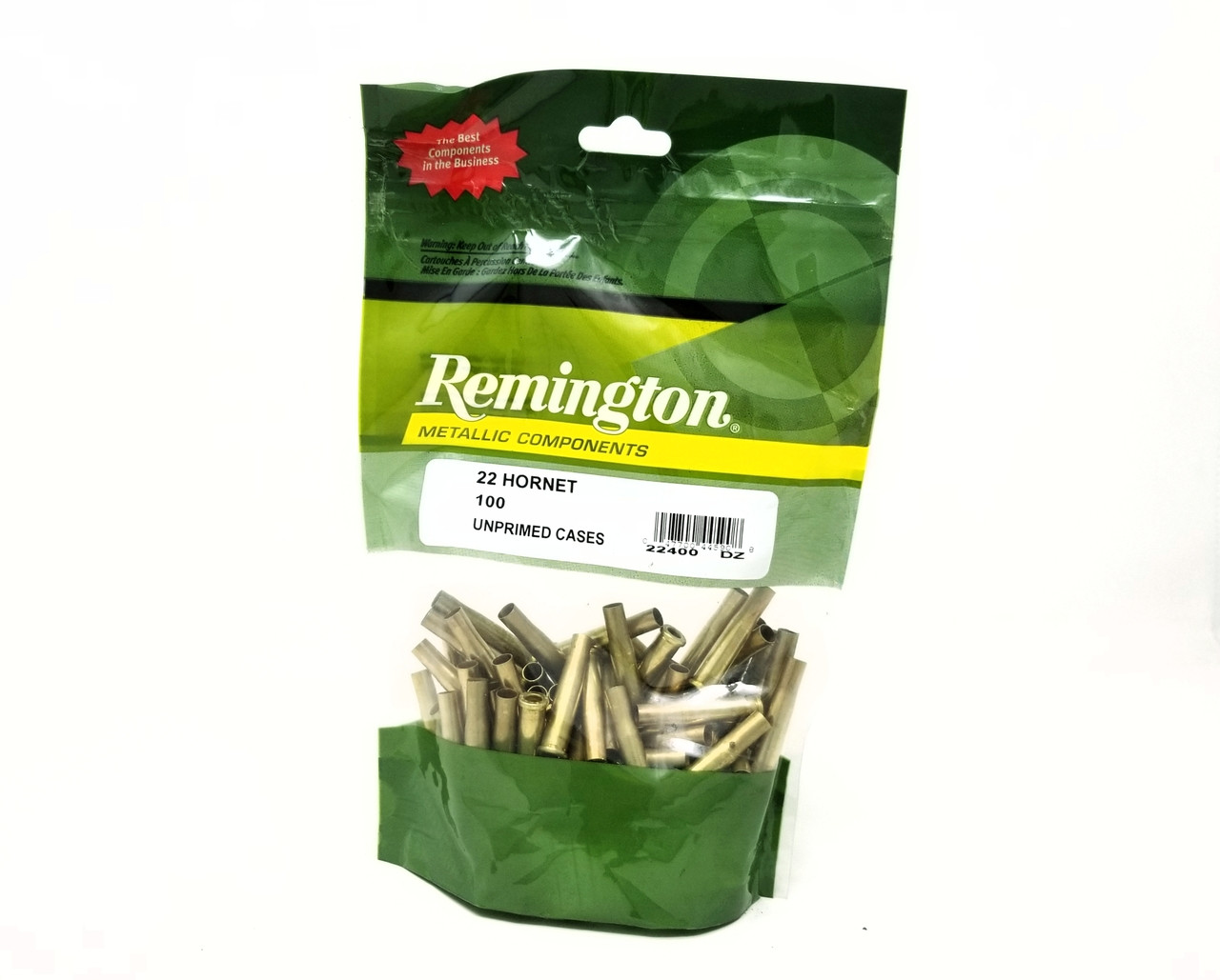 Remington 22 Hornet New Reloading Brass RC22H 22400 Brass 100 Pieces