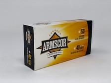 Armscor 40 S&W Ammunition 50081 180 Grain Full Metal Jacket 50 Rounds