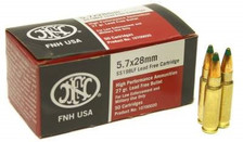 FNH 5.7x28mm Ammunition SS198LFX *Blemished Box*  27 Grain Green Tip Hollow Point 50 Rounds
