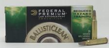Federal 223 Rem Ammunition BC223NT5 Ballisticlean Reduced Hazard Training 42 Grain Frangible 20 Rounds