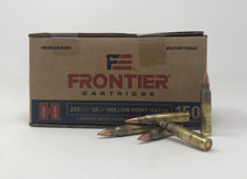 Hornady Frontier 223 Remington Ammunition Match FR142 55 Grain Hollow Point 150 Rounds