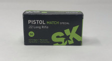 SK 22LR Ammunition 420144 Pistol Match Special 40 Grain Lead Round Nose 50 Rounds