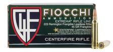 Fiocchi 223 Remington Ammunition 223FRANG 45 Grain Frangible 50 Rounds