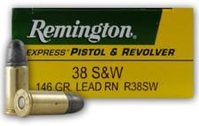 Israeli Military Surplus Remington 38S&W Ammunition AM2949 146 Grain Lead Soft Point 50 Rounds