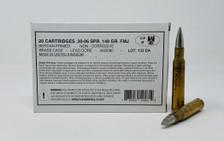 Surplus United Kingdom Sportwaffen .30-06 Ammunition AM3080 148 Grain FMJ 20 Rounds