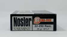 Nosler 22-250 Rem Ammunition 60006 Trophy Grade 35 Grain Ballistic Tip Lead Free 20 Rounds