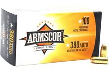Armscor 380 Auto Ammunition 95 Grain Full Metal Jacket Value Pack Case Of 1200 Rounds