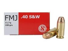 Sellier & Bellot 40 S&W Ammunition SB40B 180 Grain Full Metal Jacket CASE 1000 Rounds