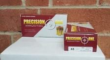 Precision One 45 Colt Ammunition 250 Grain Full Metal Jacket CB CASE 500 rounds