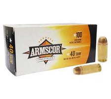 Armscor 40 S&W Ammunition 180 Grain Full Metal Jacket Value Pack CASE 1200 Rounds