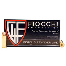 Fiocchi 45 Long Colt Ammunition Shooting Dynamics 45LCCMJ 255 Grain Full Metal Jacket Flat Point CASE 500 Rounds