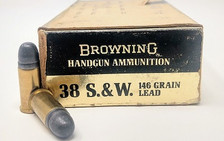 Israeli Military Surplus Browning 38S&W Ammunition AM2947 146 Grain Lead Soft Point 50 Rounds