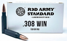 Century Red Army Standard 308 Win Ammunition 150 Grain Full Metal Jacket CASE 500 Rounds