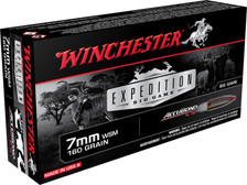 Winchester 7mm WSM Ammunition S7MMWSMCT Expedition Big Game 160 Grain AccuBond CT Ballistic Tip 20 Rounds