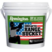 Remington 380 ACP Ammunition UMC Range Bucket REML380APBC 95 Grain Full Metal Jacket 500 Rounds