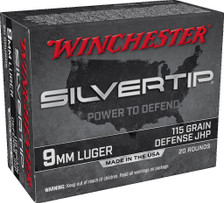 Winchester 9mm Luger Ammunition W9MMST 115 Grain ST Hollow Point 20 Rounds