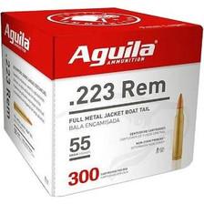 Aguila 223 Rem Ammunition 1E223108 55 Grain Full Metal Jacket Bulk Pack CASE 1200 Rounds