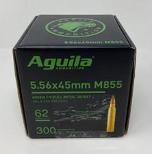 Aguila 5.56x45mm Ammunition 1E556125 Green Tipped 62 Grain Full Metal Jacket Bulk Pack 300 Rounds