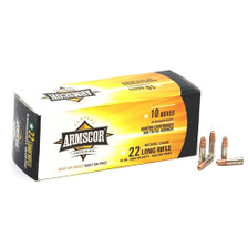 Armscor 22 Long Rifle Ammunition 50308 36 Grain Hollow Point Nickel Plated High Velocity BRICK 500 Rounds