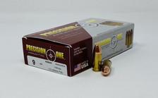 Precision One 9mm *REMAN* Ammunition 115 Grain Full Metal Jacket 50 Rounds