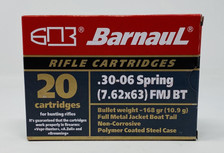 Barnaul 30-06 Springfield Ammunition 168 Grain Full Metal Jacket 20 Rounds